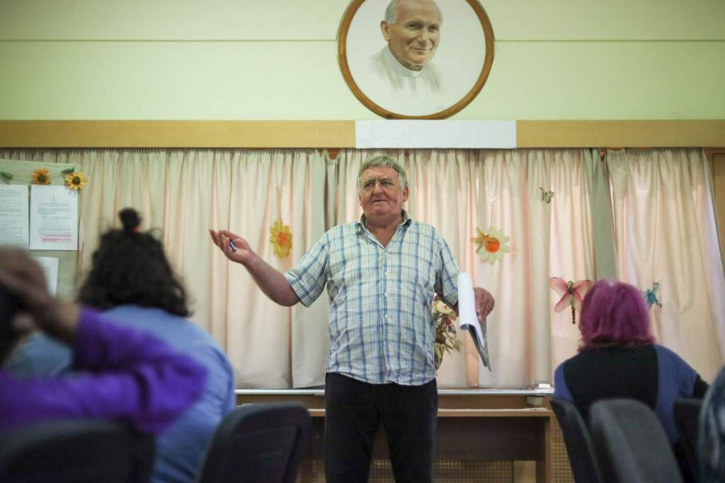 Haincz József tanár úr özvegye ismét ebéddel szolgált