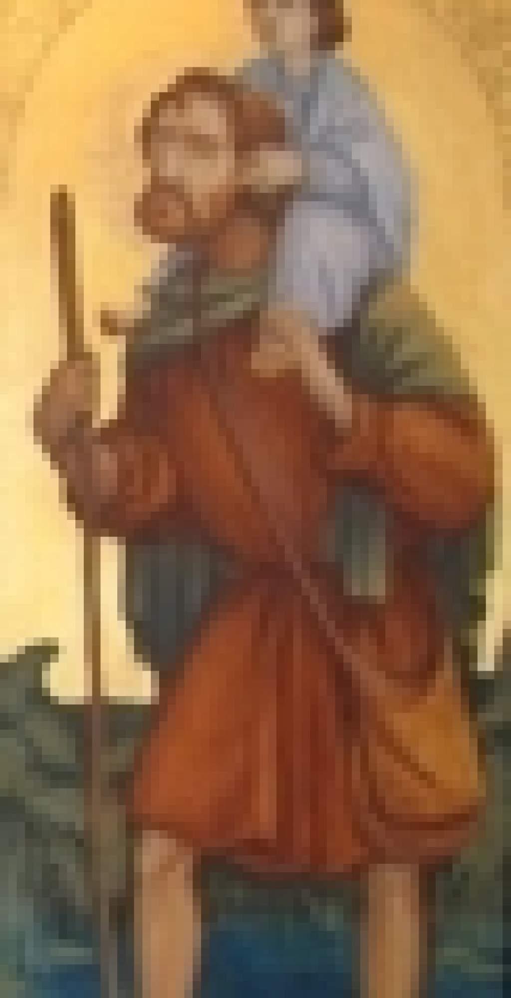 Porta kereszt: Szent Kristóf könyörögj érettünk!